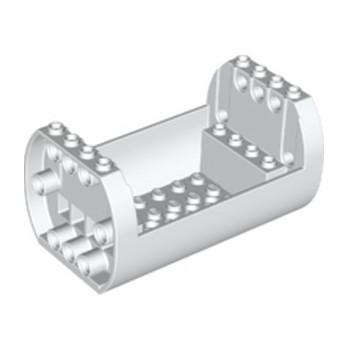 LEGO 6263883 SHELL 6X10X4 1/3, OUTSIDE BOW - WHITE