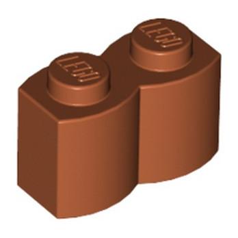 LEGO 4666352 BRIQUE PALISSADE 1X2 - DARK ORANGE lego-4666352-brique-palissade-1x2-dark-orange ici :