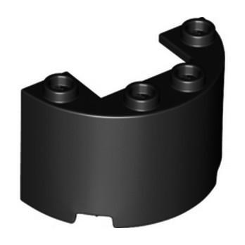 LEGO 6251544 WALL 1/2 CIRCLE, 2X4X2 W/ CUTOUT - BLACK lego-6251544-wall-12-circle-2x4x2-w-cutout-black ici :