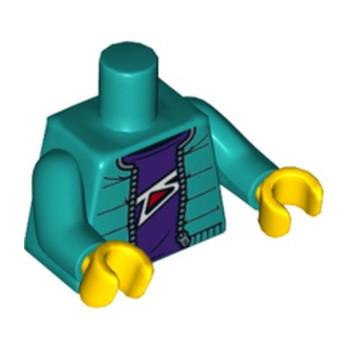 LEGO  6312492 TORSO NINJAO LLOYD - DARK GREEN lego-6310580-torso ici :