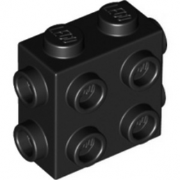 LEGO 6308883 BRICK 1X2X1 2/3, W/ 8 KNOBS - BLACK lego-6308883-brick-1x2x1-23-w-8-knobs-black ici :