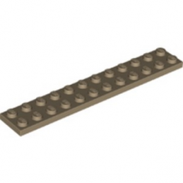 LEGO 6322219 PLATE 2X12 - SAND YELLOW