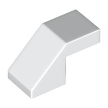 LEGO 6166894 TUILE 1X2 45° - BLANC lego-6166894-tuile-1x2-45-blanc ici :