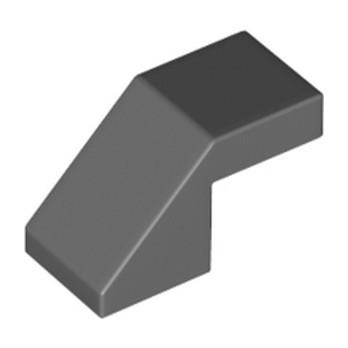 LEGO 6168776 - TUILE 1X2 45° - DARK STONE GREY lego-6168776-tuile-1x2-45-dark-stone-grey ici :