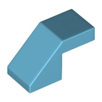 LEGO 6296622 TUILE 1X2 45° - MEDIUM AZUR lego-6296622-tuile-1x2-45-medium-azur ici :