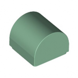 LEGO 6335233 PLATE 1X1X2/3, OUTSIDE BOW - SAND GREEN