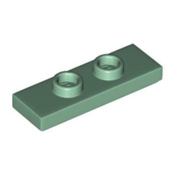 LEGO 6335230 PLATE 1X3 W/ 2 KNOBS - SAND GREEN lego-6335230-plate-1x3-w-2-knobs-sand-green ici :