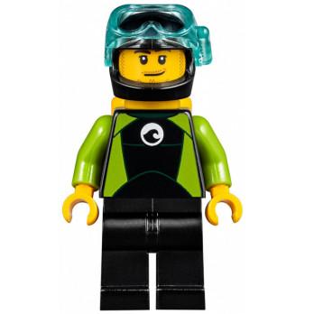 Minifigure Lego®  City - Diver minifigure-lego-city-diver ici :