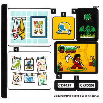 Stickers Lego CITY 60291 stickers-lego-city-60291 ici :