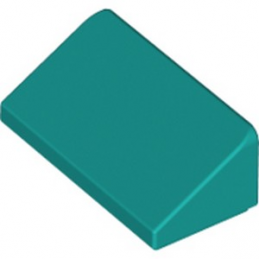 LEGO 6228967 TUILE 1 X 2 X 2/3 - BRGHT BLUEGREEN