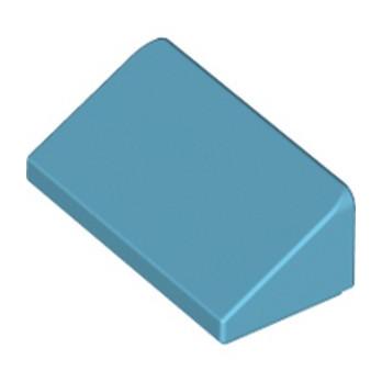 LEGO 6097444 ROOF TILE 1 X 2 X 2/3 - MEDIUM AZUR lego-6097444-roof-tile-1-x-2-x-23-medium-azur ici :