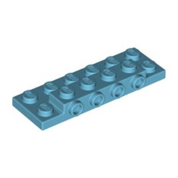 LEGO  6332108 PLATE 2X6X23 W 4 HOR. KNOB - MEDIUM AZUR