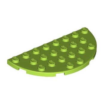 LEGO 6133225 1/2 ROND 4X8 - BRIGHT YELLOWISH GREEN