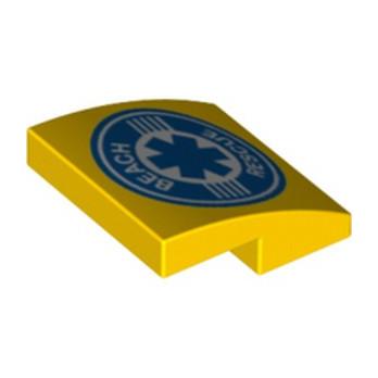 LEGO 6326438 PLATE, W/ BOW 2X2X2/3 PRINTED
