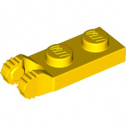 LEGO 4183981 PLATE 1X2 W/FORK/VERTICAL/END - JAUNE