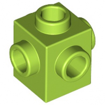 LEGO 6174006 - BIQUE 1X1 W. 4 KNOBS - BR.YEL-GREEN