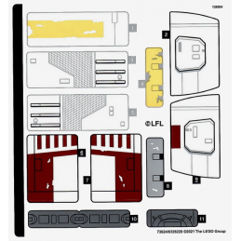 Stickers / Autocollant Lego Star Wars 75301
