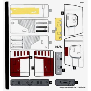 Stickers Lego Star Wars 75301