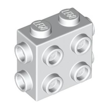 LEGO 6312480 BRICK 1X2X1 2/3, W/ 8 KNOBS - WHITE