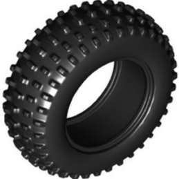 LEGO 6321710 TYRE OFF ROAD, WIDE, DIA. 75.1X28 - BLACK