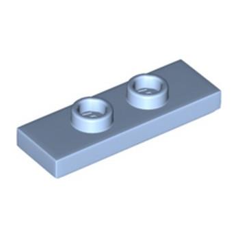 LEGO 6331339 PLATE 1X3 W/ 2 KNOBS - LIGHT ROYAL BLUE