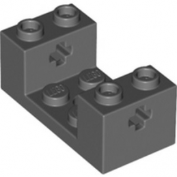 LEGO 6335115 WHEEL BEARING 2X4X1 1/3 WITH CROSS HOLE - DARK STONE GREY