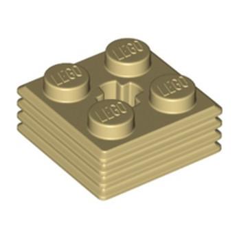 LEGO 6330903 DESIGN PLATE 2X2X2/3 - BEIGE