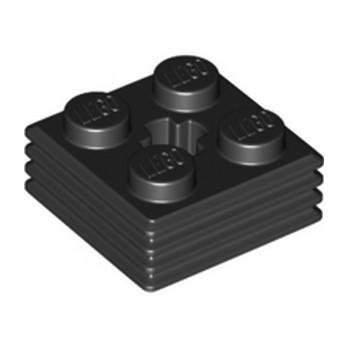 LEGO 6325254 DESIGN PLATE 2X2X2/3 - BLACK
