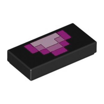 LEGO 6252644 MINECRAFT PRINTED 1X2 - BLACK lego-6252644-minecraft-printed-1x2-black ici :