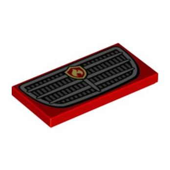 LEGO 6329587 FLAT TILE 2X4 PRINTED FIRE TRUCK