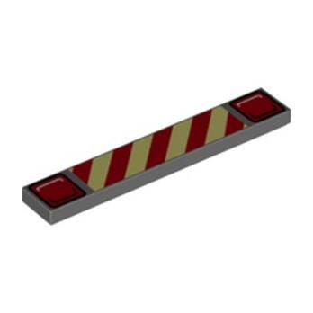 LEGO 6329569 FLAT TILE 1X6 PRINTED FIRE TRUCK