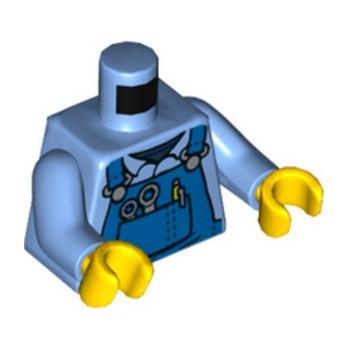LEGO 6283869 MECHANIC MEDIUM BLUE TORSO