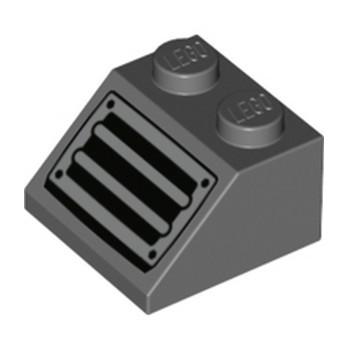 LEGO 6329592 TUILE 2X2/45° IMPRIME - DARK STONE GREY