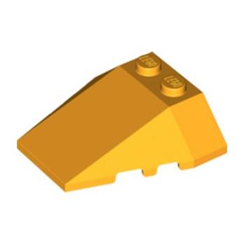 LEGO 6328163 ROOF TILE 4X2/18° W/COR. - FLAME YELLOWISH ORANGE