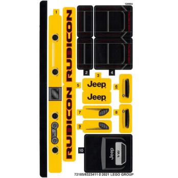 Stickers Lego Technic 42122