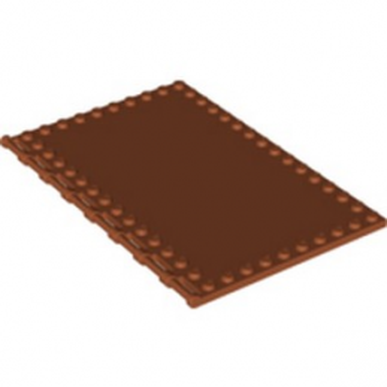 LEGO 6319518 PLATE 10X16, HOR. 3.2 SHAFT - DARK ORANGE