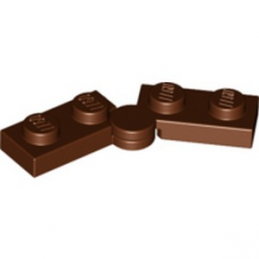 LEGO 6327804 HINGE PLATE 1X2 - REDDISH BROWN lego-6327804-hinge-plate-1x2-reddish-brown ici :