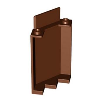 LEGO 6334418 PANEL WALL 3X3X6 CORNER - REDDISH BROWN