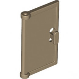 LEGO 6334209 DOOR 1X2X3 W/ HOLE IN HANDLE - TAN lego-6334209-lid-for-frame-1x4x3-sand-yellow ici :