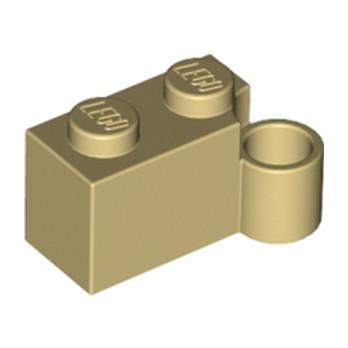 LEGO 6334219 HINGE 1X2 LOWER PART - TAN