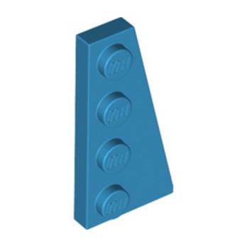 LEGO 6253907 RIGHT PLATE 2X4 W/ANGLE - DARK AZUR