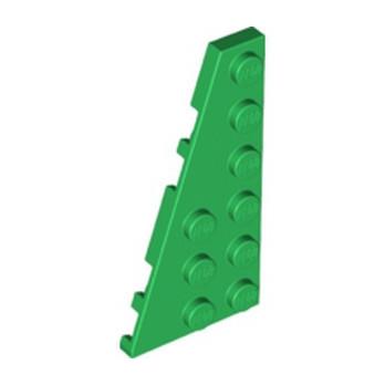 LEGO 6328332 LEFT PLATE 3X6 W ANGLE - DARK GREEN