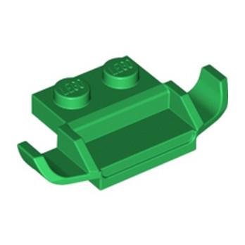 LEGO 6330150 PLATE 1X2 W. SPOILER - DARK GREEN