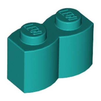 LEGO 6325980 PALISADE BRICK 1X2 - BRIGHT BLUEGREEN lego-6325980-palisade-brick-1x2-bright-bluegreen ici :