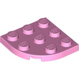 LEGO 4620318 PLATE 3X3, 1/4 CIRCLE - BRIGHT PINK