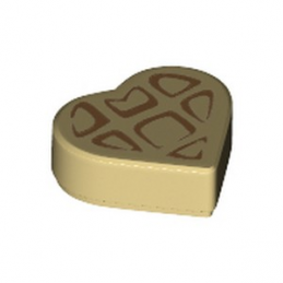 LEGO 6301982 TILE 1X1, HEART PRINTED - TAN lego-6301982-tile-1x1-heart-printed-tan ici :