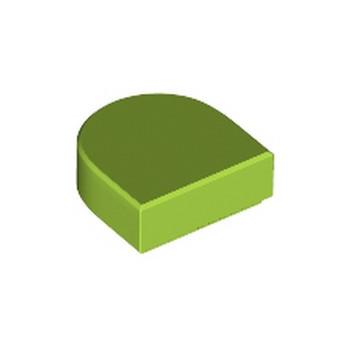 LEGO 6250601 FLAT TILE 1X1 ½ CIRCLE - BRIGHT YELLOWISH GREEN