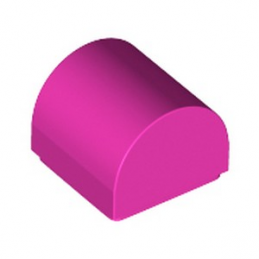 LEGO 6334833 PLATE 1X1X2/3, OUTSIDE BOW - DARK PINK