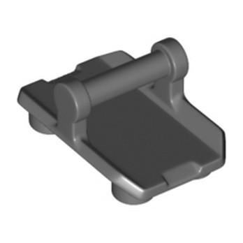 LEGO 6258991 BOUCLIER 2X3 W/ HOR. 3,2 SHAFT - DARK STONE GREY