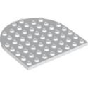 LEGO 6249095 PLATE 8X8, 1/2 CIRCLE - WHITE